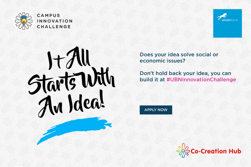 Apply For Union Bank Campus Innovation Challange