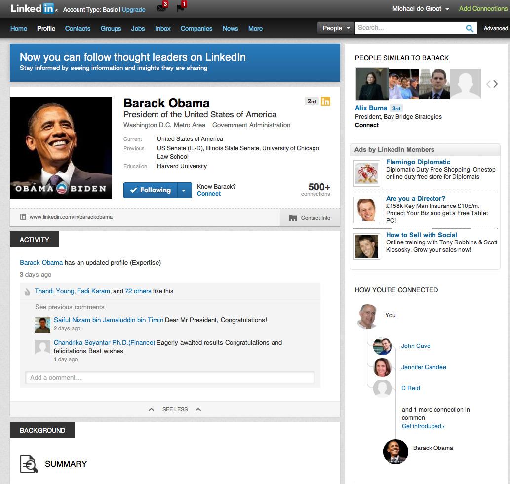 obama linkedin