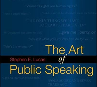 Download The Art of Public Speaking by Stephen Lucas