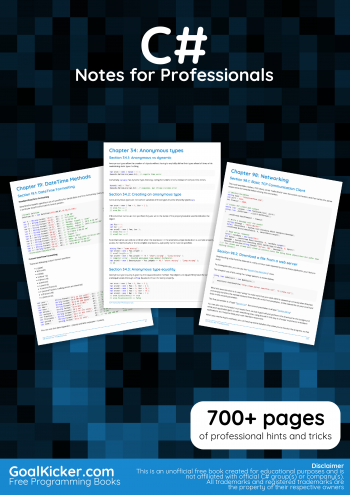 C# Notes for Professionals
