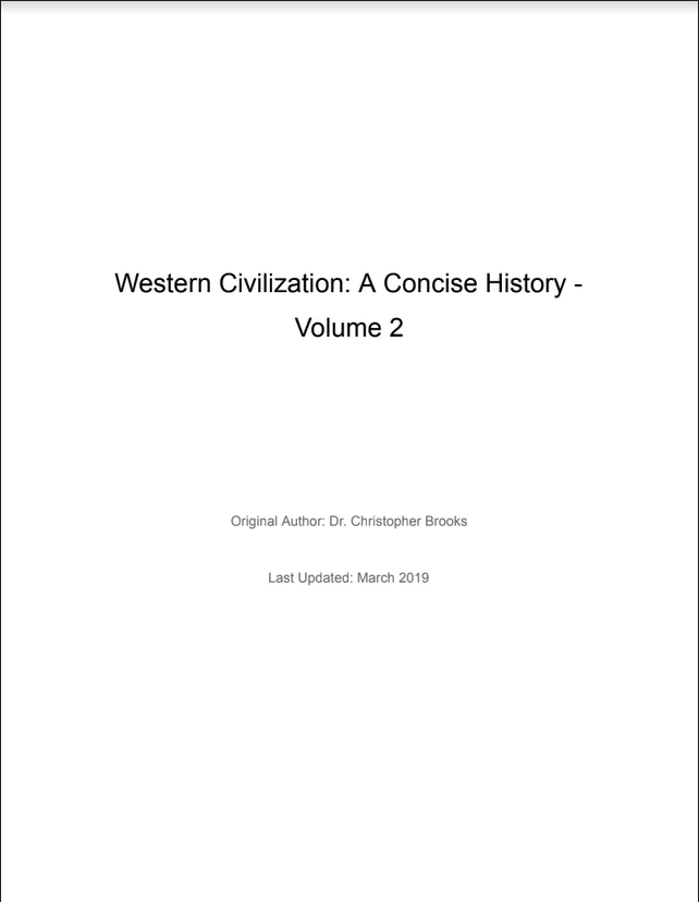 Western Civilization A Concise History - Volume 2