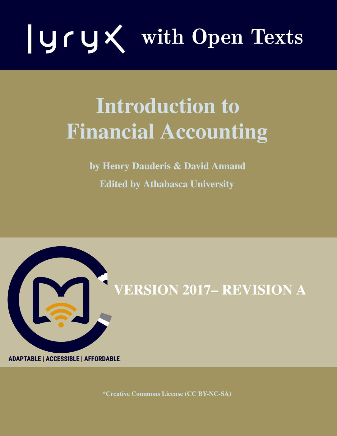 Introduction to Financial Accounting by David Annand
