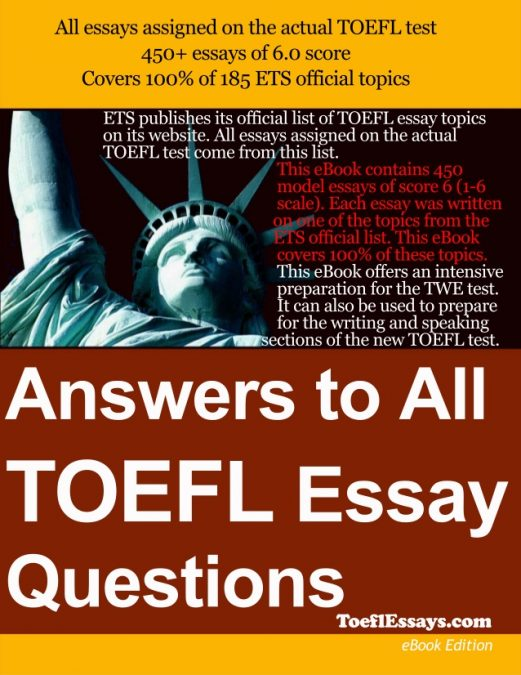 Answers to All TOEFL Essay Questions