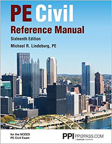Civil Engineering Engineering Reference Manual for the PE Exam 16th ed pdf