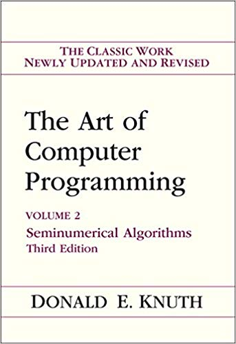 Art of Computer Programming Volume 2 Seminumerical Algorithms pdf
