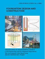 Foundation Design and Construction Geo publication