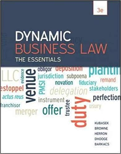 Dynamic Business Law: The Essentials 3rd Edition