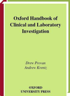 Oxford Handbook of Clinical and Laboratory Investigation pdf
