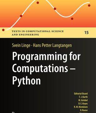 Programming for Computations – Python by Svein Linge