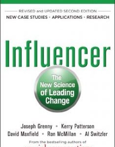 Influencer: The New Science of Leading Change pdf