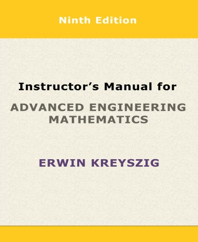 Instructor's Manual for Advanced Engineering Mathematics PDF