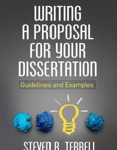 Writing a Proposal for Your Dissertation PDF